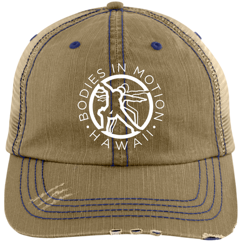 Bodies in Motion  Distressed Unstructured Trucker Cap