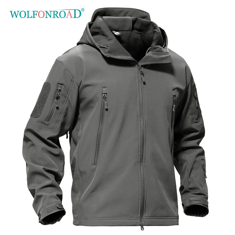 WOLFONROAD Outdoor Softshell Jacket Waterproof Hiking Camping Jacket Military Tactical Hunting Jackets Winter Windproof Jacket|Hiking Jackets|