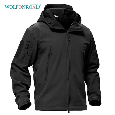 Image of WOLFONROAD Outdoor Softshell Jacket Waterproof Hiking Camping Jacket Military Tactical Hunting Jackets Winter Windproof Jacket|Hiking Jackets|