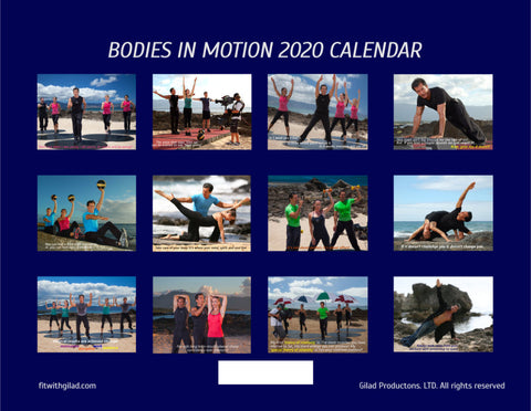 Image of Bodies in Motion 2020 Calendar