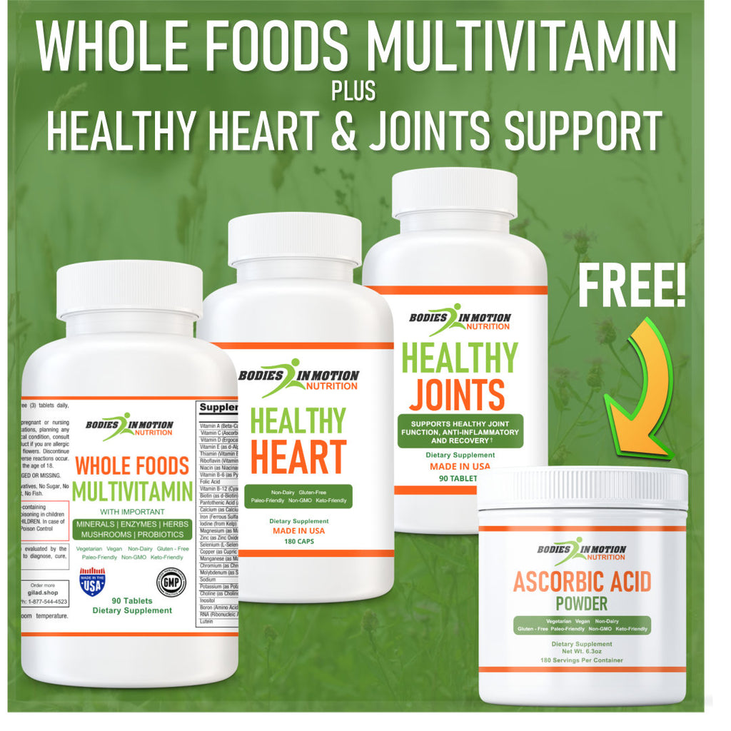 🔥 Whole Food Multivitamin - Healthy Heart - Healthy Joints