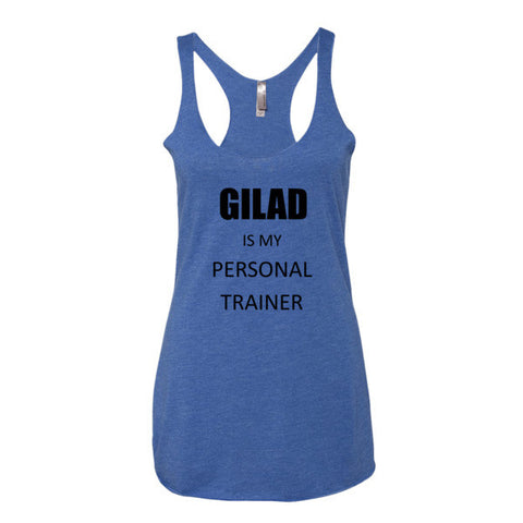 Image of Gilad is my personal trainer - Women's tank top