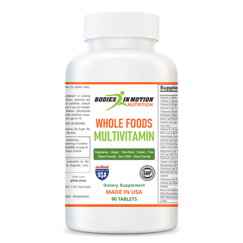 Image of Whole Food Multivitamin - With Blends of Herbs, Vegetables, Fruits and Mushrooms Plus More