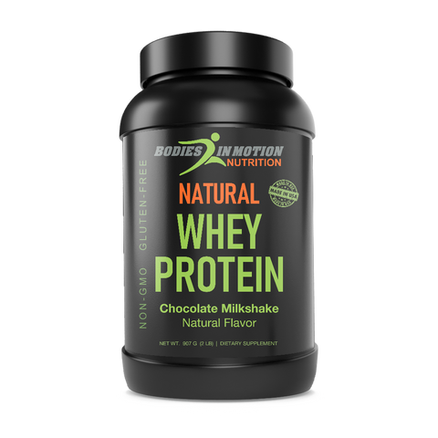 Image of Natural Chocolate Whey Protein - Supports Muscle Development and Tissue Repair - Made in USA