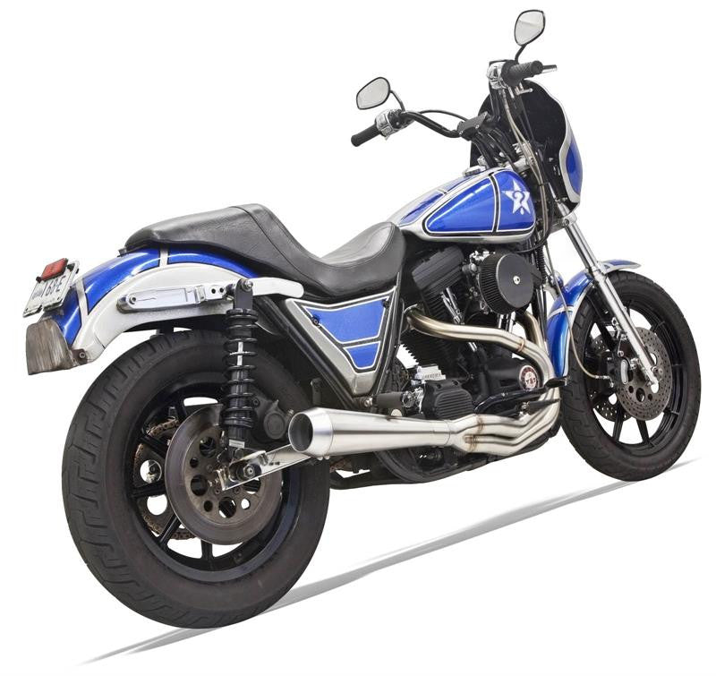 Bassani Road Rage III 2-Into-1 Exhaust System For Harley FXR 1984-2000