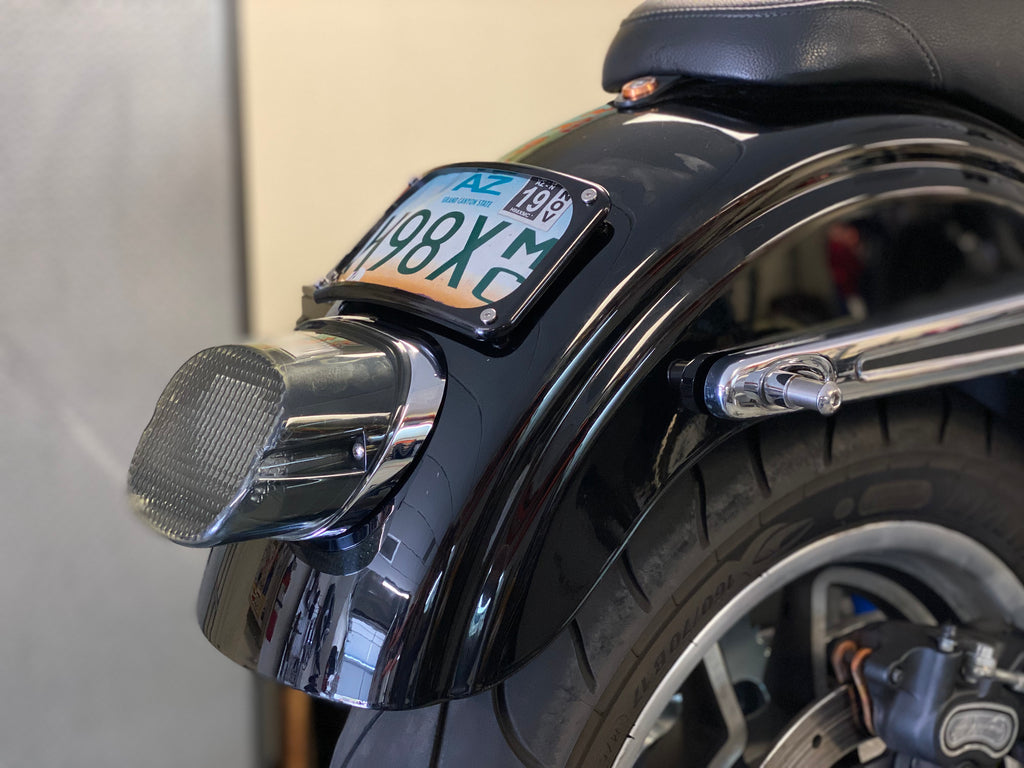 Kruesi Originals Lay down License plate mount.