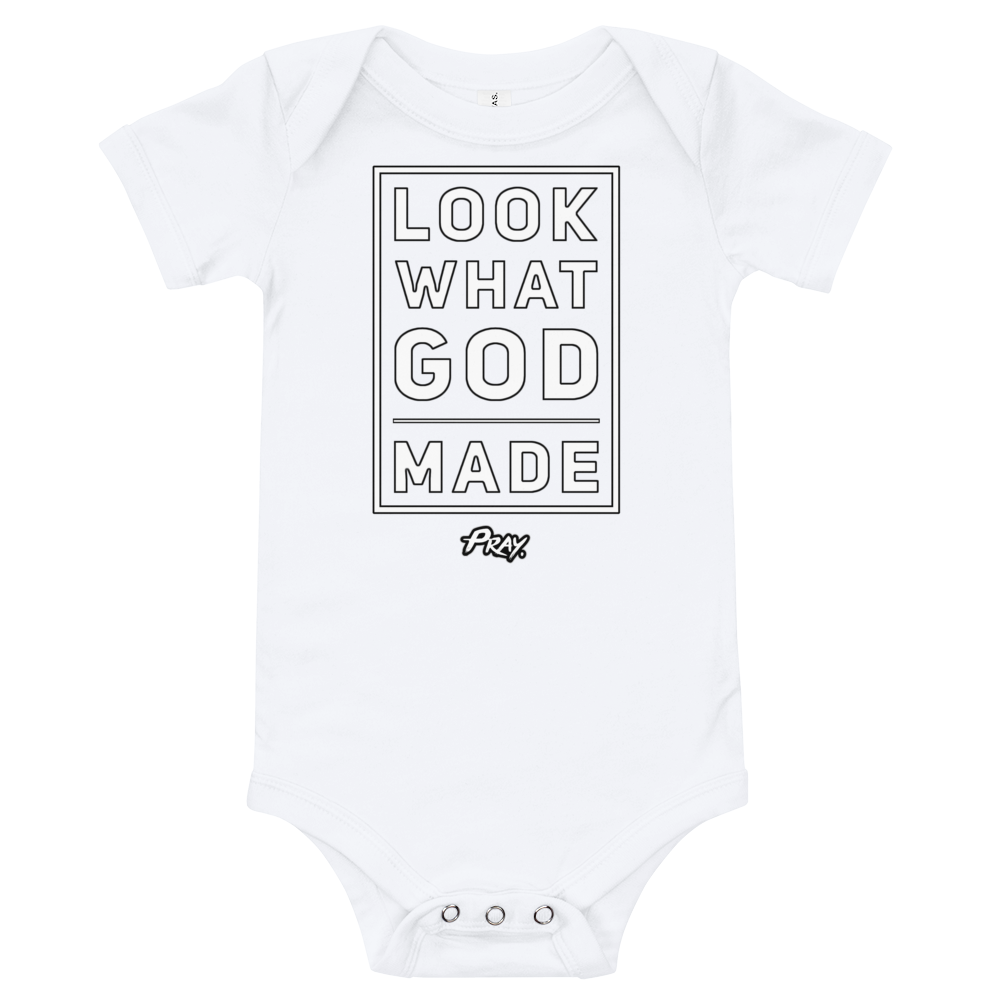 """Look What GOD Made"" Onesie - Pray Period"