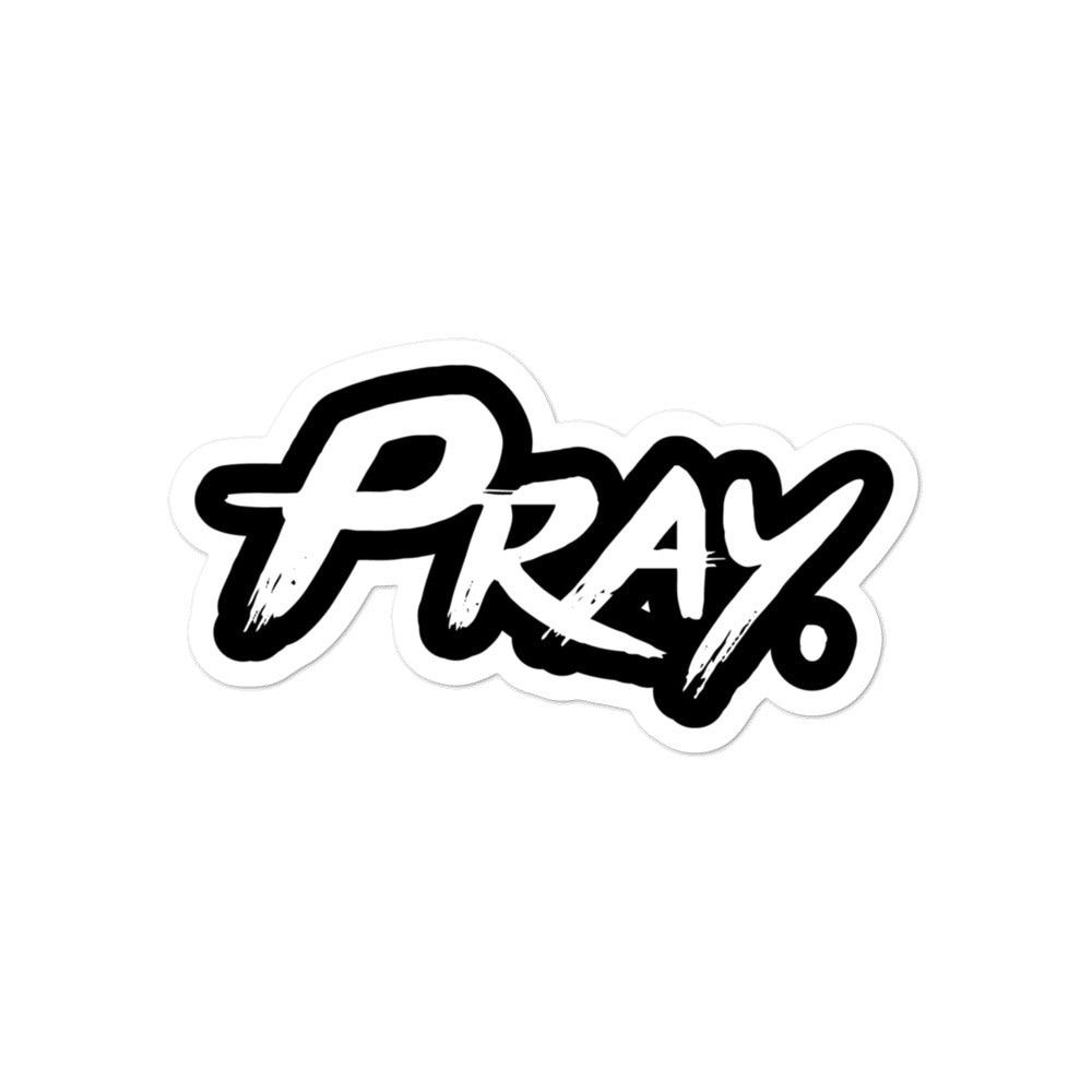 Pray Logo Bubble-free sticker - Pray Period