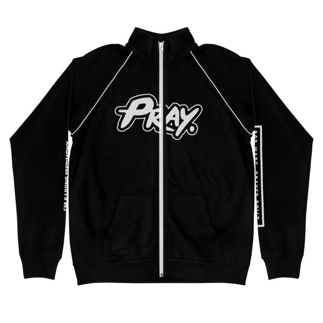 Anointed Pray Unisex Piped Fleece Jacket - Pray Period