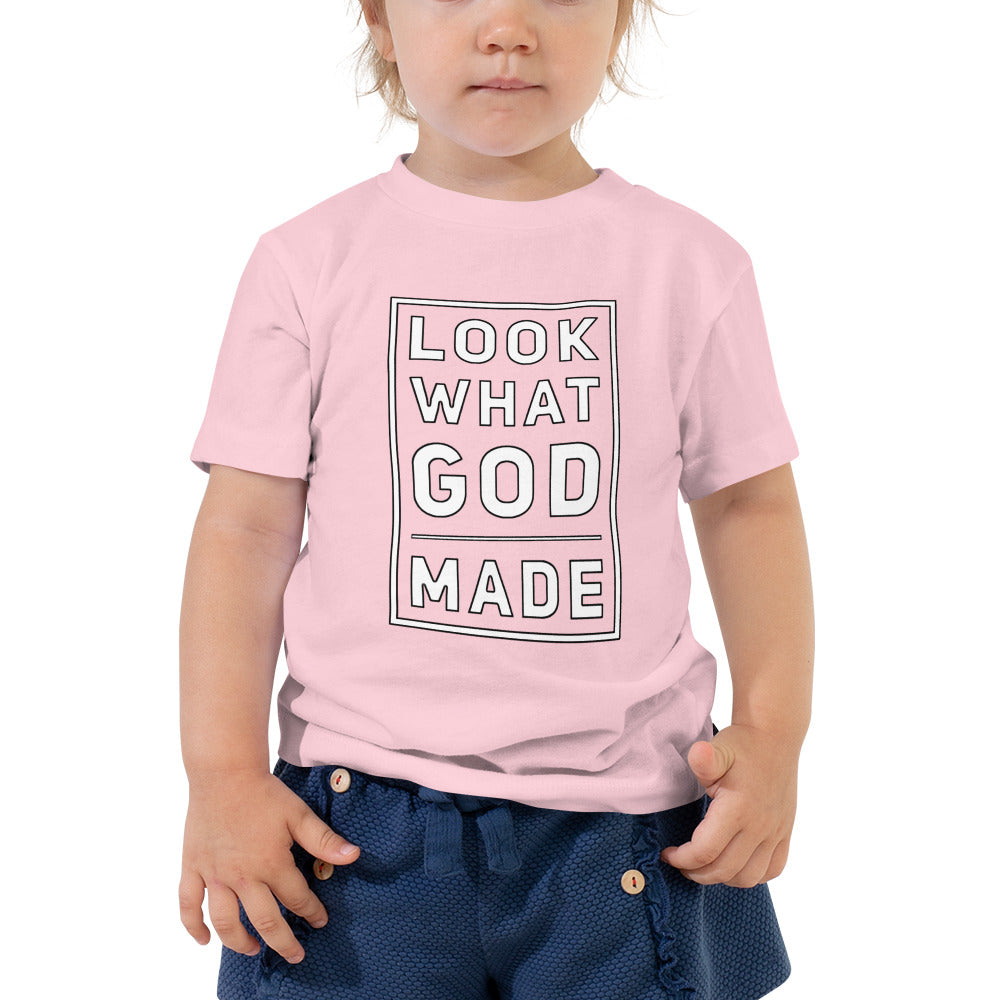 """Look What GOD Made"" Toddler Short Sleeve Tee - Pray Period"