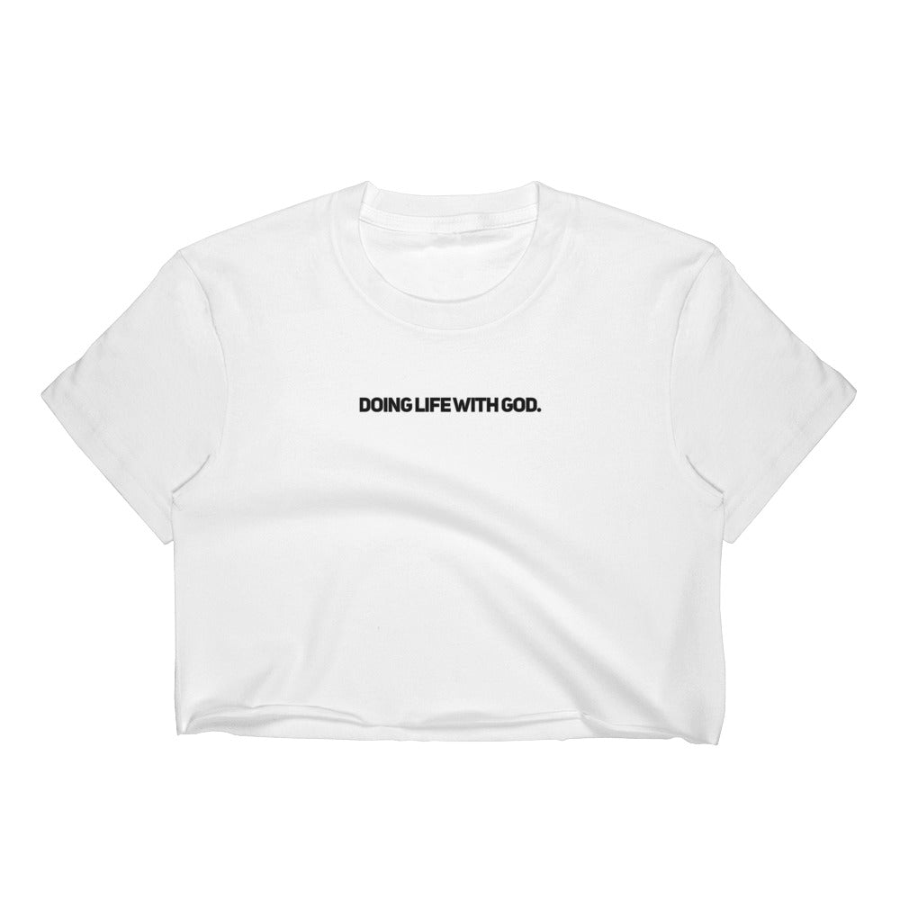 Doing Life With God Short Sleeve Women Cropped T-Shirt - Pray Period