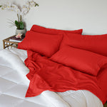 Load image into Gallery viewer, Aurora Red Sleep Oasis Sheet Sets