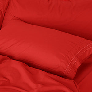 Aurora Red Sleep Oasis Sheet Sets