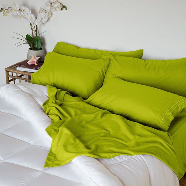 Key Lime Green Sleep Oasis Sheet Sets