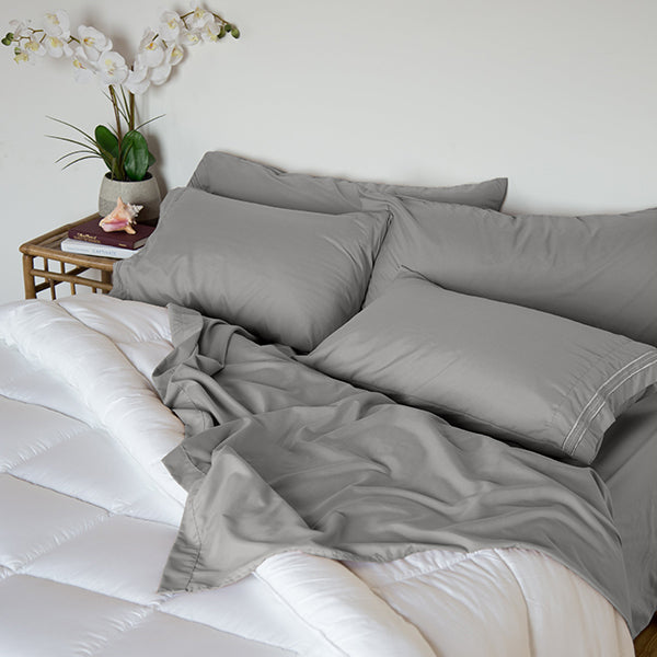 Wet Slate Gray Sleep Oasis Sheet Sets