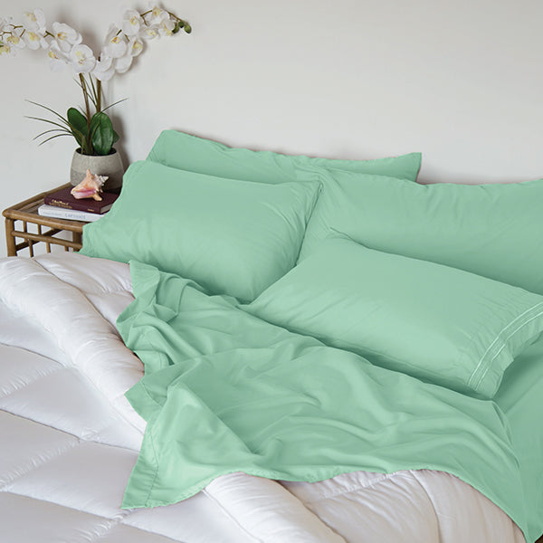 Sea Glass Green Sleep Oasis Sheet Sets