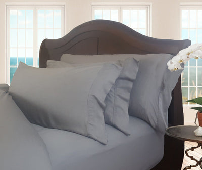 Sharkskin Gray Natural Bamboo Pillowcase Set
