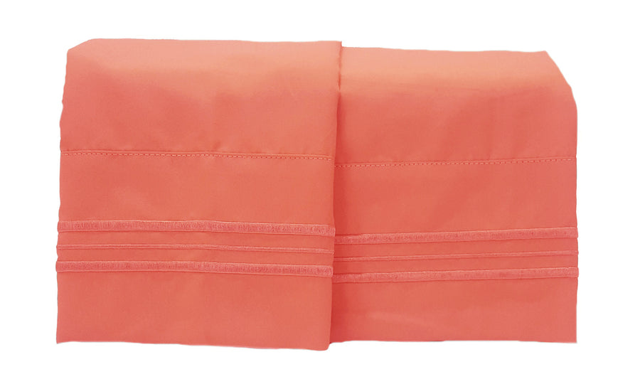 1800 Collection 2 Piece Pillowcase Set Coral Reef