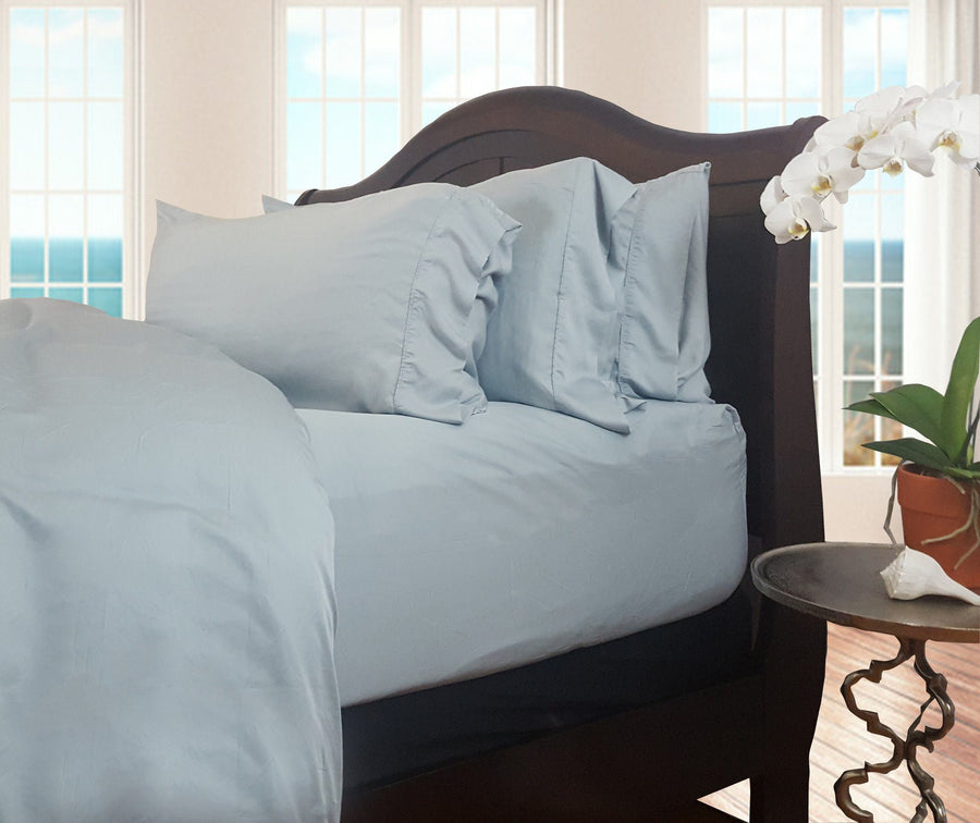 Sea Breeze Blue Natural Bamboo Pillowcase Set