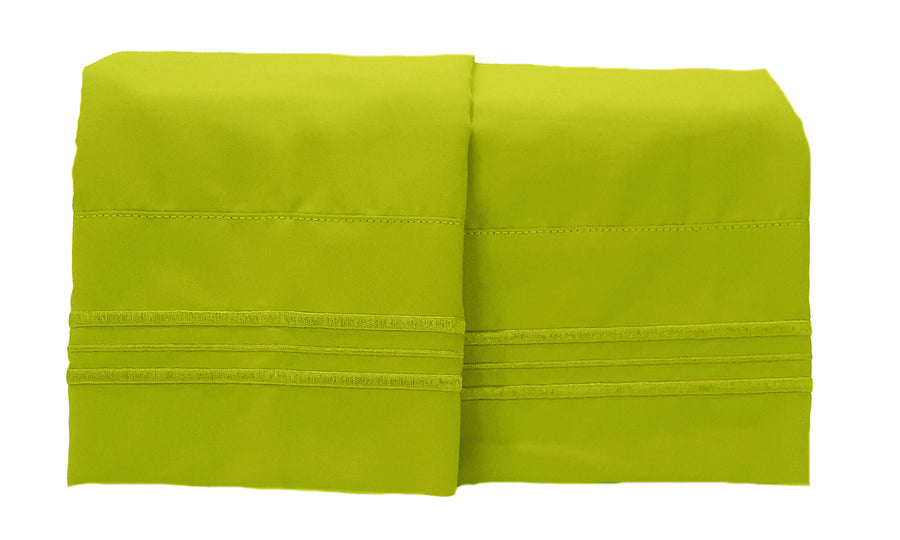1800 Collection 2 Piece Pillowcase Set Key Lime