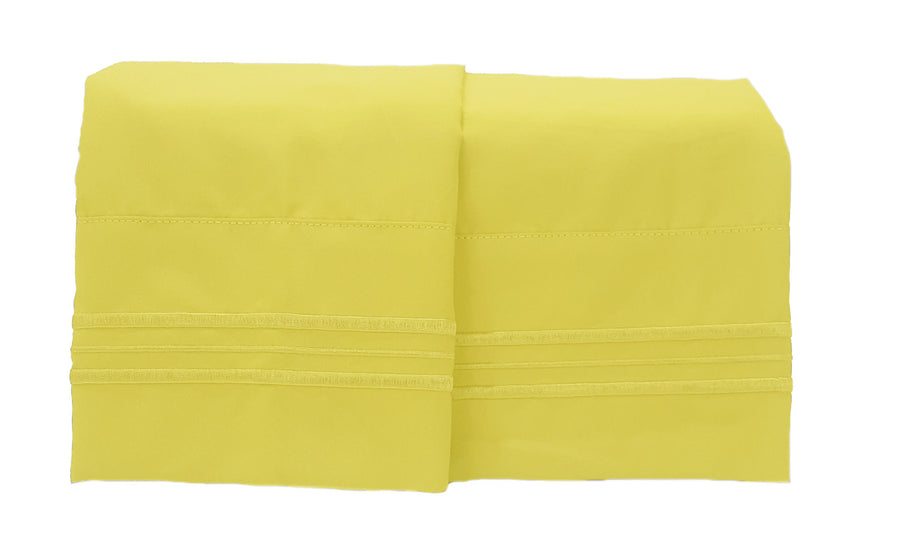 1800 Collection 2 Piece Pillowcase Set Meadowlark Yellow