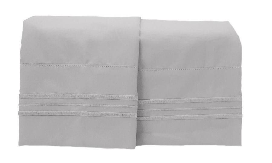 1800 Collection 2 Piece Pillowcase Set Sea Haze Gray