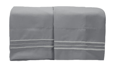 1800 Collection 2 Piece Pillowcase Set Wet Slate Gray