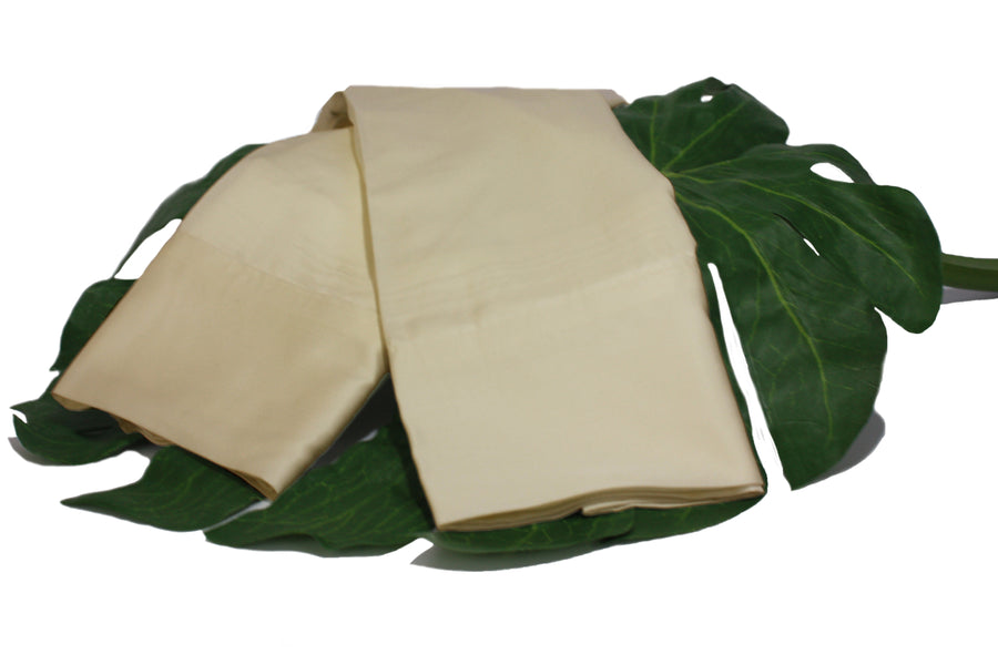 Sand Castle Light Brown Natural Bamboo Pillowcase Set