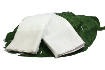 Lotus White Natural Bamboo Sheet Set