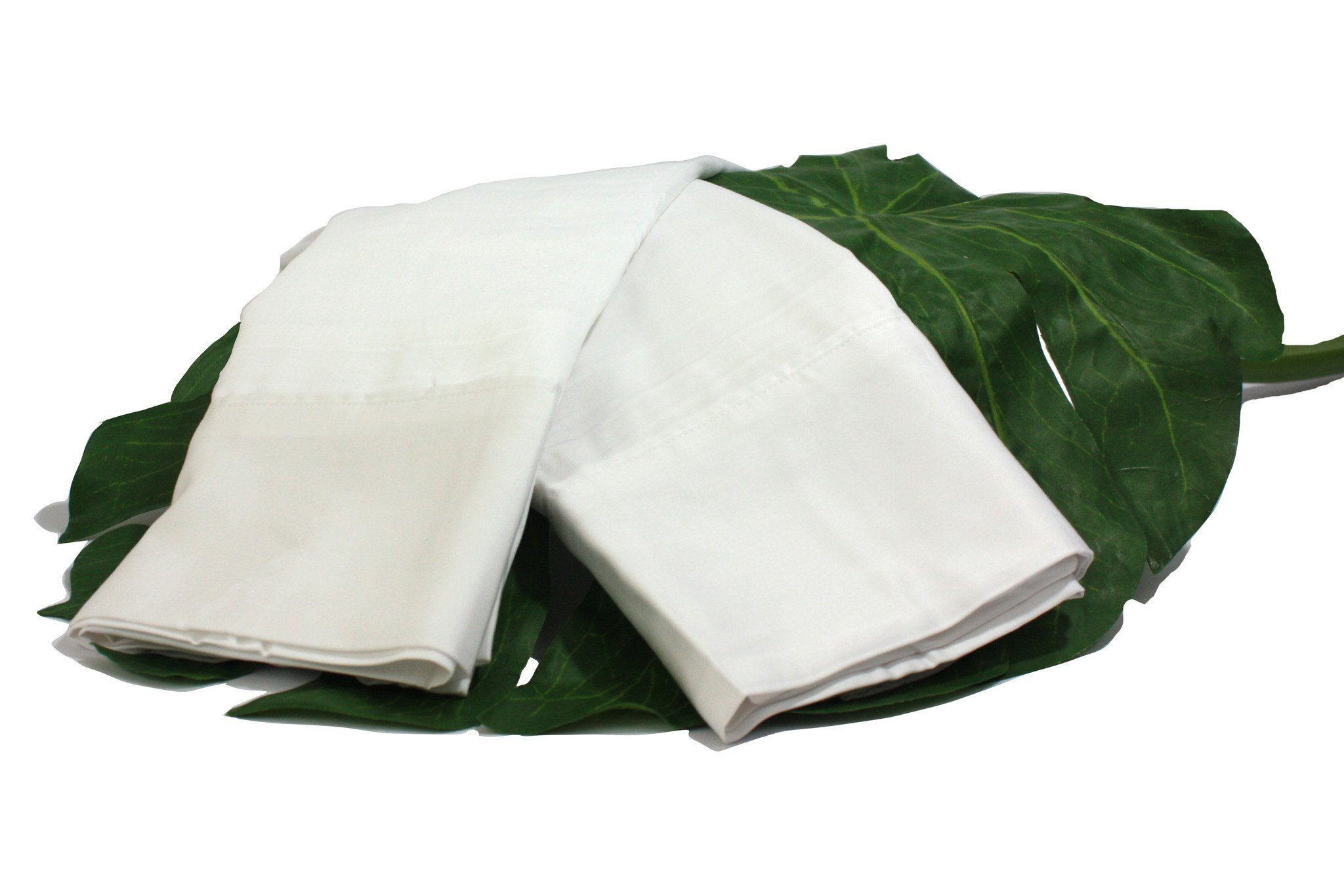 Lotus White Natural Bamboo Pillowcase Set