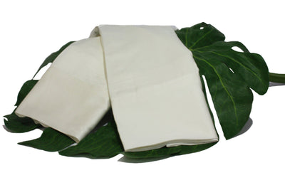 Pearled Ivory Natural Bamboo Pillowcase Set