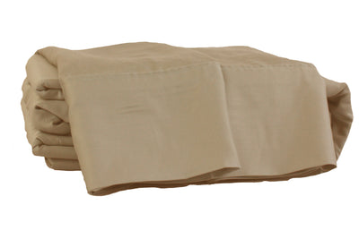 Sand Castle Light Brown Natural Bamboo 4-Piece Sheet Set