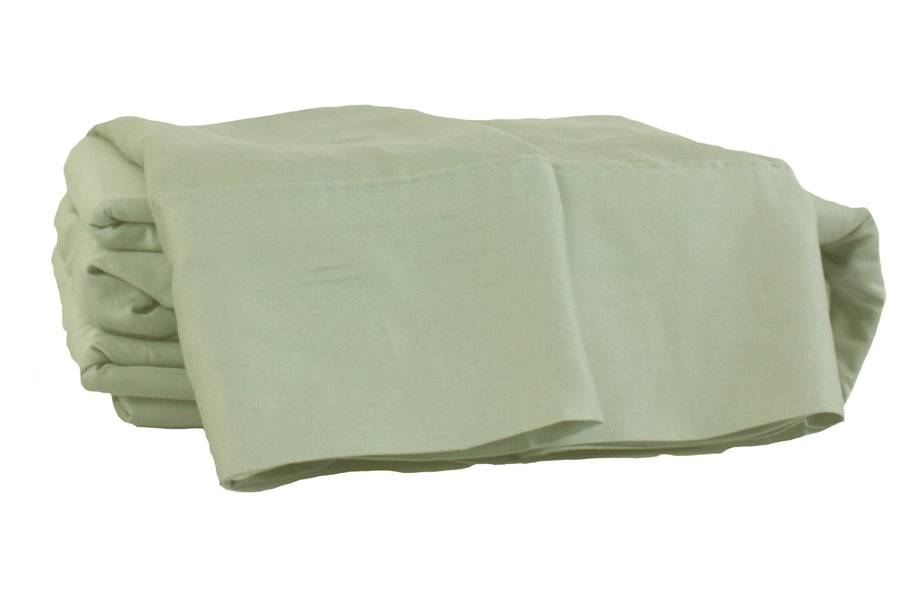 Seafoam Green Natural Bamboo 4-Piece Sheet Set