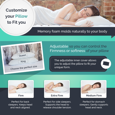 Custom Bamboo Memory Foam Pillow