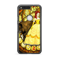 Beauty and the Beast Stained Glass google pixel xl case