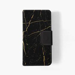 Black Gold Marble iphone wallet