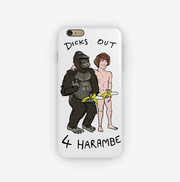 Dicks Out For Harambe iPhone Case