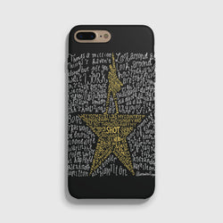 Hamilton Musical Lyrics Black iPhone 7 Case - Casesity Phone Cases Shop