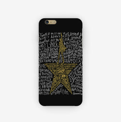 Hamilton Musical Lyrics Black iPhone Case