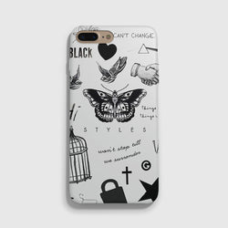 1D Harry Styles Tattoos White iPhone 7 Case - Casesity Phone Cases Shop