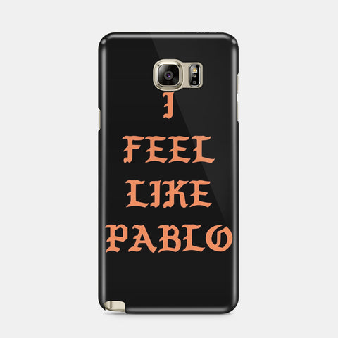 Kanye West I Feel Like Pablo Black Samsung Galaxy S5 S6 S7 Edge Case