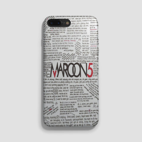 Maroon 5 Lyrics iPhone 7 Case - Casesity Phone Cases Shop