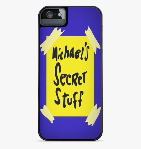 Michael's Secret Stuff iPhone Case