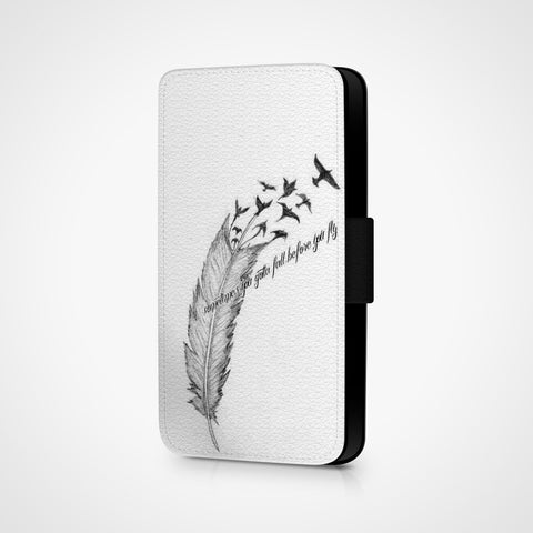 Sometimes You Gotta Fall Before You Fly iPhone Wallet Case - Casesity Phone Cases Shop