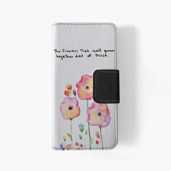 Taylor Swift Watercolor Flowers iphone wallet