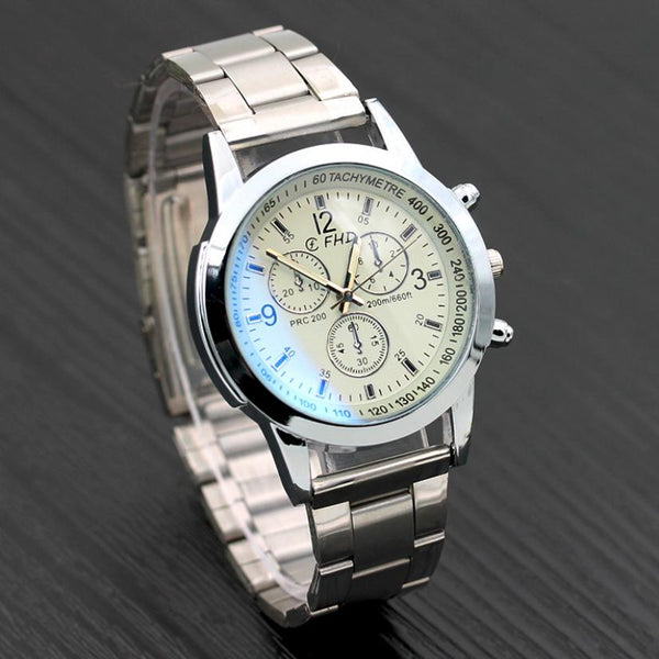 SUSENSTONE Silver Steel Date Business  Watch