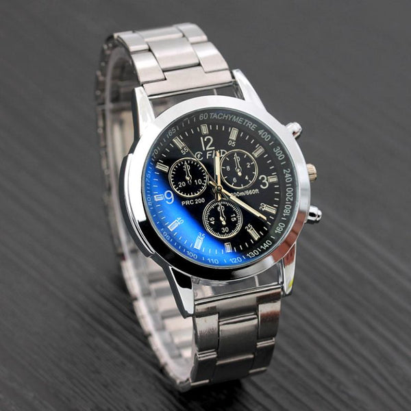 SUSENSTONE Silver Steel Date Business  Watch - imenapparel.com