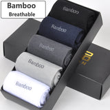 5 Pairs of Men Bamboo Fiber Casual Socks - imenapparel.com
