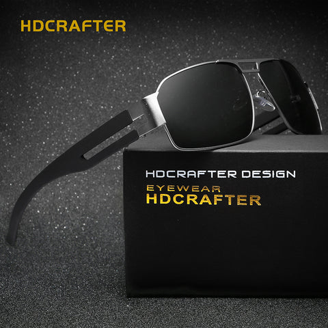 2018 HDCrafter Mens Fashion Polarized Driving Sunglasses Rectangle