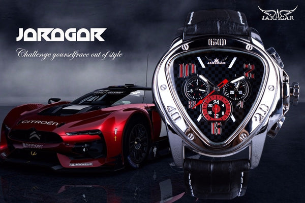 Jaragar Geometric Triangle Design Luxury Wrist Watch - imenapparel.com